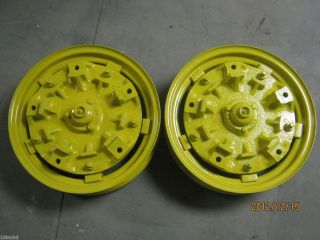 John Deere B F H Cast Adjustable Front Wheels W273D N374