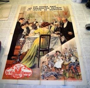 JOHN BUNNY 1911 VITAGRAPH FRENCH COMEDY POSTER FANTASTIC