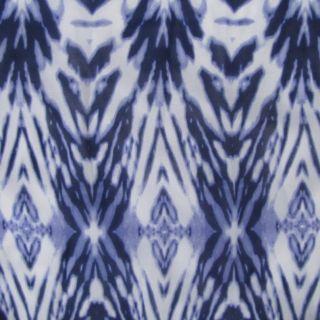 John Paul Richards Maxi Dress Ruffle Sleeveless Blue Tie Dye Long Full Length