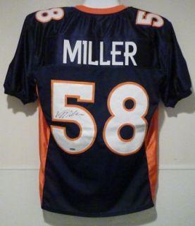 Von Miller Autographed Signed Denver Broncos Blue Jersey Size XL Tri Star