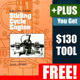 Build Make Model Two Cylinder Stirling Engine Hobby How To DIY Book Machining