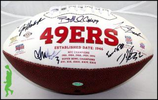 2012 San Francisco 49ers Team Signed Wilson NFL Football Jim Harbaugh Willis COA