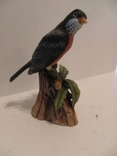 Vintage Robin Figurine John James Audubon Porcelain Bird 1982