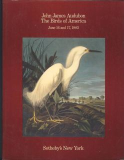 John James Audubon The Birds of America Sotheby's 1983