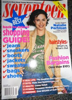 Seventeen 9 2004 Natalie Portman Adam Levine John Kerry
