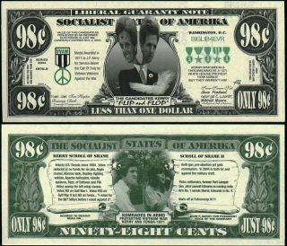 John Kerry Flip Flop Funny Money Lot of 10 Bills