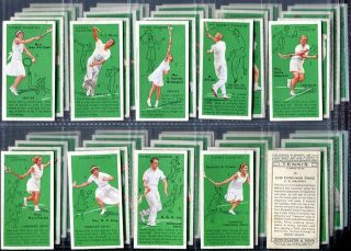 Tobacco Card Set John Player HOW TO PLAY TENNIS Shot Tips 1936