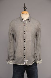 Mens Black Check Beatles ENGLISH LAUNDRY JOHN LENNON Shirt Size M Medium NEW NWT