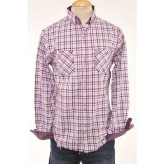 Mens Purple Plaid Beatles ENGLISH LAUNDRY JOHN LENNON Shirt Size M Medium NEW
