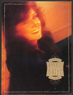 Bonnie Raitt Luck of the Draw Concert Tour Program 1991