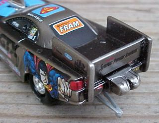 John Force Raw Bare Metal Superman Action Racing 1999 Nitro Drag Funny Car 1 64