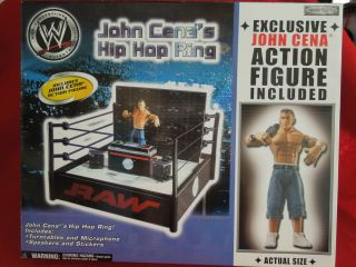 WWE WWF Raw John Cena's Hip Hop Wrestling Ring w John Cena Figure Included NIP