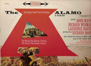 JOHN WAYNE R BOONE R WIDMARK OST THE ALAMO STEREO DG 6BLK WH LOGOS 1960 NM RARE