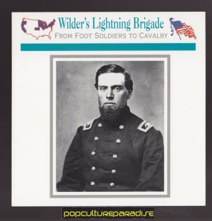 John Thomas Wilder's Lightning Brigade Union Troops U s Civil War Card