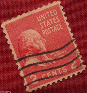 John Adams 2 Cents United States Postage Stamp US 806