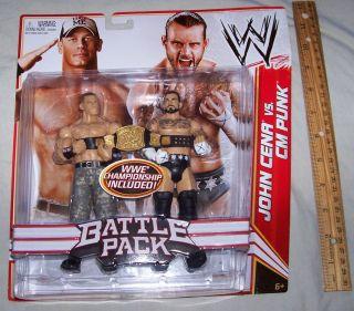 WWE John Cena vs cm Punk with Championship Belt Battle Pack Series 17
