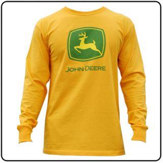 John Deere T Shirt Jon Deer Tee Farm Yellow JD Top