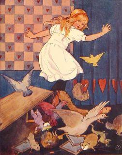 1922 Alice in Wonderland Antique Lewis Carroll Alice's Adventures Book Vtg RARE