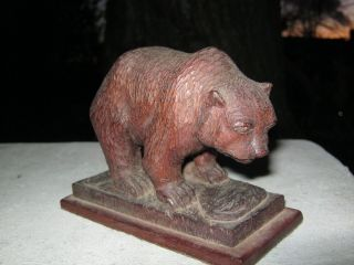 Antique Hand Carved Bear Sculpture John C Campbell EARLY20TH American Folk Art