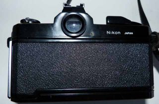 "Nikon ""Nikkormat"" FT2 35mm SLR Black Model Nikon ""Nikkor"" Lens Looks Works A"