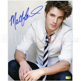 Matt Lanter 90210 Autographed 8x10 Studio Photo CA