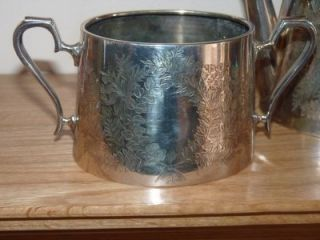 Antique Silver Plated Three Piece Tea Set From Army Navy Cooperative Society