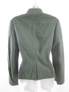 St John Sport Green Button Military Jacket Sz P