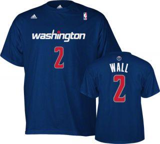 John Wall Adidas Navy Name and Number Washington Wizards T Shirt
