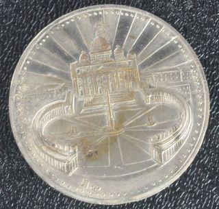 Vintage RARE POPE JOHN PAUL SILVER COIN Musei Vaticani Joannes Pavlvs Pont Max