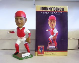 "Johnny Bench ""Letter E"" 2011 Reds Hall of Fame Promotional Bobble Bobblehead"