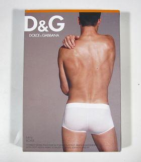 "Dolce Gabbana ""Active Body"" Mens Logo Mini Boxer Modal D G White Silber"
