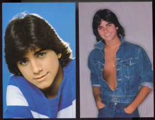 JOHN STAMOS Two 1980s Autographed Postcards