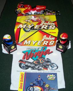 RARE Drag Bike Collector Lot John Myers Diecast Dave Schultz Dragbike Helmet