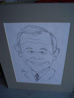 Vince Ornato Caricature Sketch Drawing Johnny Carson