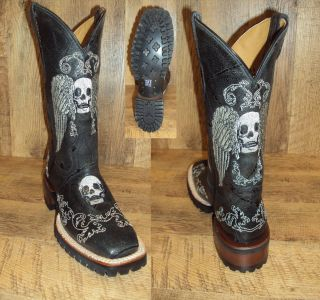 Johnny Ringo Angel Skull Ladies Biker Western Boot