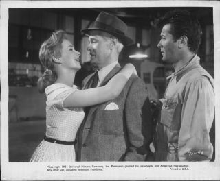 "1954 Piper Laurie w Paul Kelly Tony Curtis ""Johnny Dark"" Actor Press Photo"