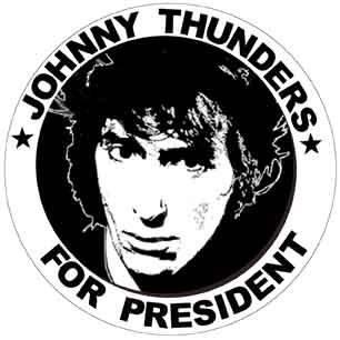Johnny Thunders for President New York Dolls Sticker