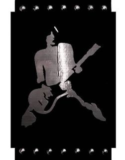 Johnny Ramone Ramones Faux Stainless Steel Framed Studded Pop Art Ready Tohang