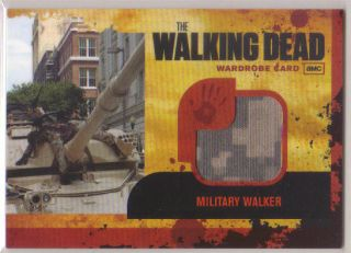 2011 The Walking Dead Military Walker Jersey Shirt RARE AMC Cryptozoic