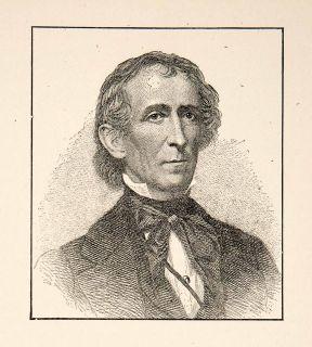1929 Print Portrait John Tyler President United States America Whig Virginia