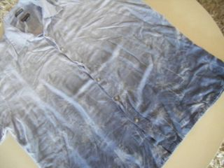 St Johns Bay Island Style Hawaiian Shirt Blue Print XXL