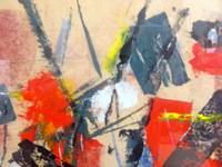 IMPORTANT AMERICAN JOHN VON WICHT ABSTRACT PAINTING 1950