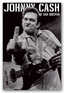 Music Poster Johnny Cash at San Quentin Portrait Finger