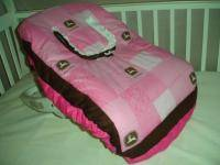 Baby Infant Car Seat Carrier Cover w PINK John Deere