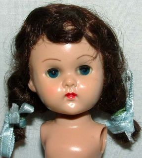 """1950s Vogue 7 5"""" Brunette Ginny Doll w Outfits Accessories More"""