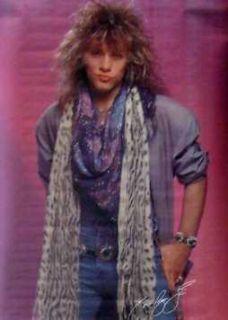 Jon Bon Jovi Poster Early Days