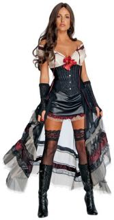 Jonah Hex Lilah Red Look Wild West Sexy Adult Halloween Costume Rubies New