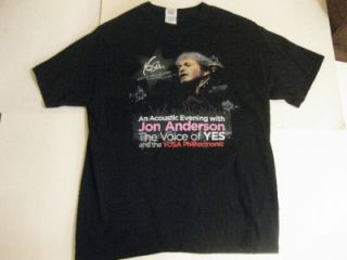 Jon Anderson Yes 2011 Tour Concert T Shirt w Youth Orchestra of San Antonio TX
