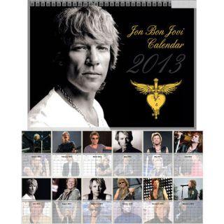 Jon Bon Jovi JBJ Photo Wall Calendar Year 2013