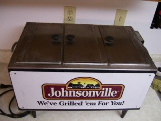 Creative Serving MPCS2000 Commercial Hot Dog Steamer Johnsonville Advertising
